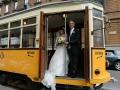 ARIANNA E STEFANO max&kitchen catering matrimonio in serra lorenzini giro panoramico in tram