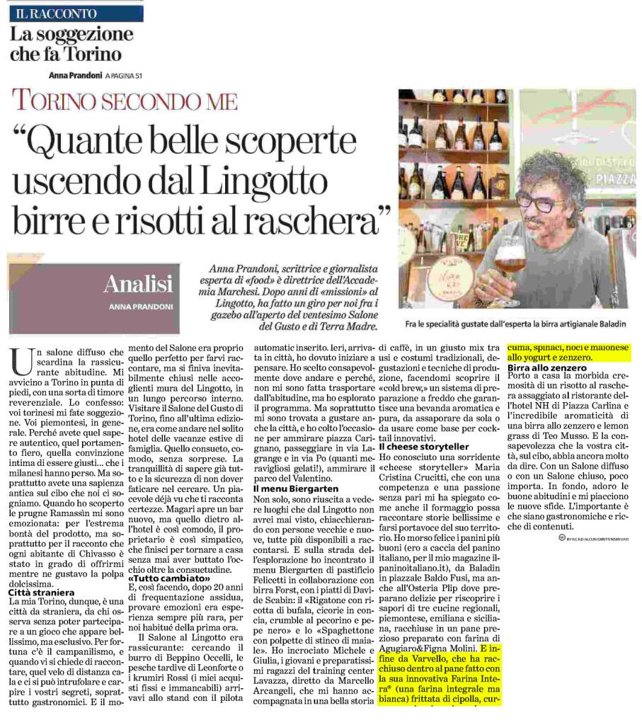 recensione LaStampa - Torino Max&Kitchen Catering, Varvello