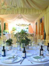 max&kitchen catering matrimonio wedding day, cerimonia sul lago tensostruttura