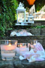 servizio catering como matrimonio mise en place