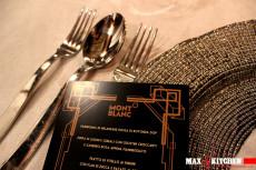 cena-di-gala-anni-30-17 mont blanc max&kitchen catering sottopiatto oro