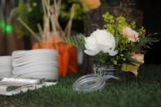 GAIA & JILL buffet max&kitchen catering buffet a isole allestimento vasi vetro