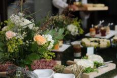 GAIA & JILL buffet max&kitchen catering buffet a isole allestimento fiori