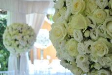 max&kitchen catering matrimonio wedding day, cerimonia sul lago rose bianche