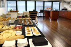 aperitivo buffet colazione di lavoro elegante