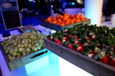 intel Max&kitchen allestimento cena di gala buffet vegetariana