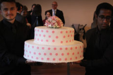 max&kitchen catering milano torta di cerimonia a poua battesimo
