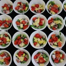 PR Laboratory max&kitchen catering milano press day buffet cubo di parmigiano reggiano senza glutine vegetariano