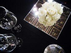 cena di gala allestimento specchio
